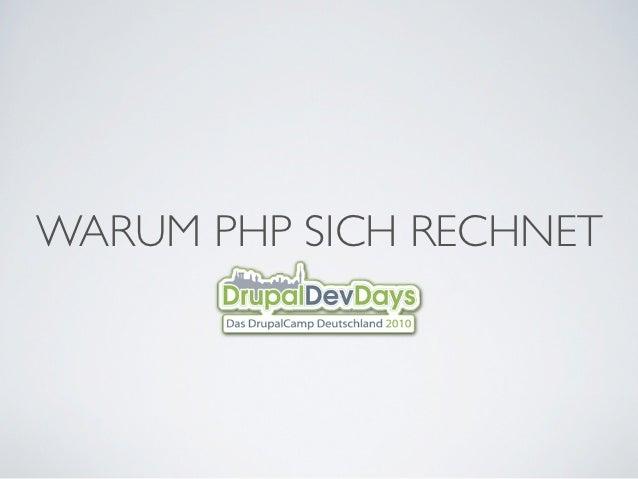WARUM PHP SICH RECHNET