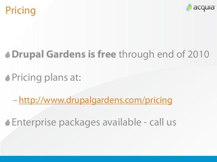 Drupal Gardens Overview