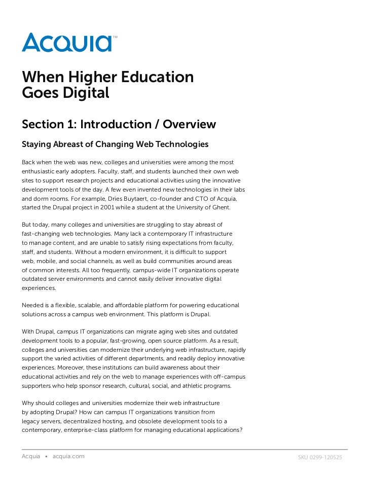 When Higher EducationGoes DigitalSection 1: Introduction / OverviewStaying Abreast of Changing Web TechnologiesBack when t...