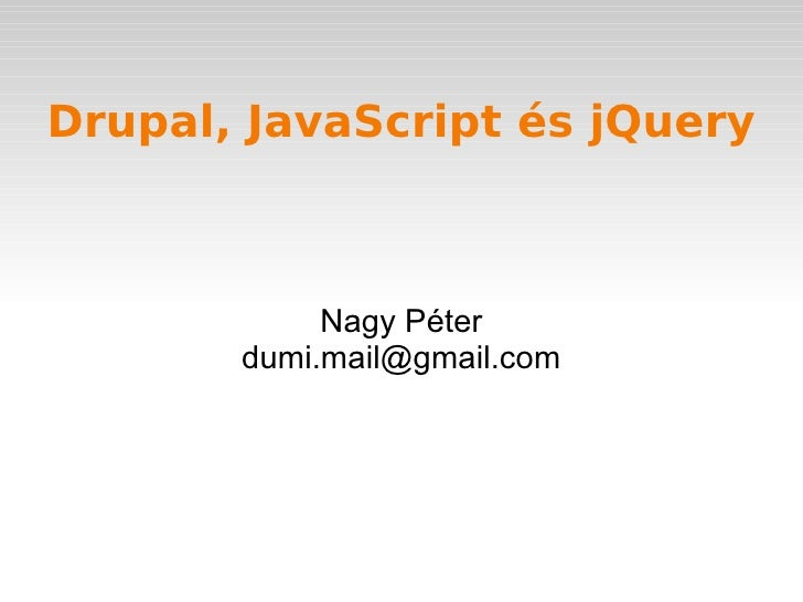 Drupal+javascript
