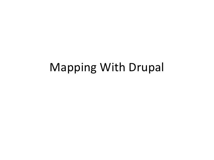 Drupal mapping modules