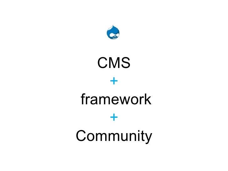 CMS +  framework + Community
