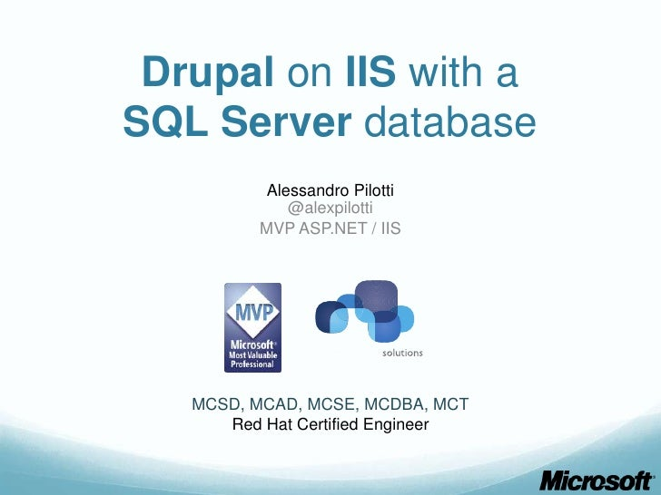 Drupal on IIS with SQL Server