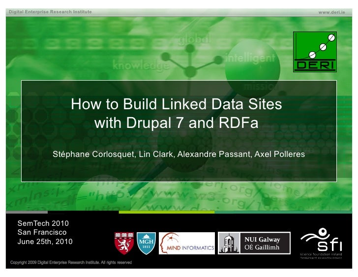 How to Build Linked Data Sites with Drupal 7 and RDFa
