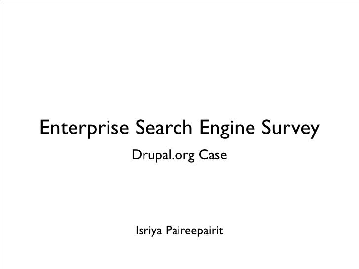 Drupal.org Search Evaluation