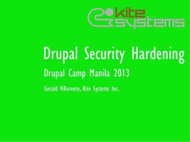 Drupal Security Hardening