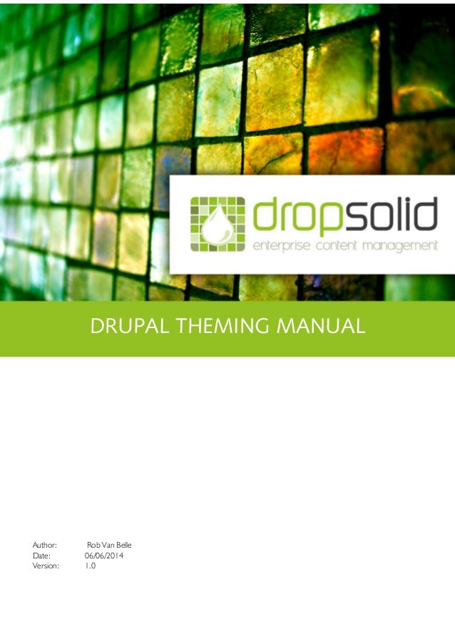 Drupal theming training