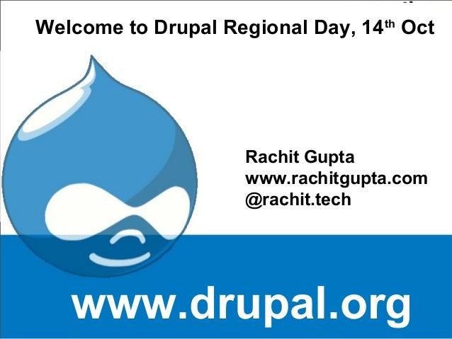 Drupal training day by Rachit Gupta
