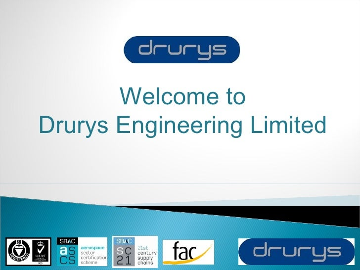 Welcome to Drurys Engineering Limited