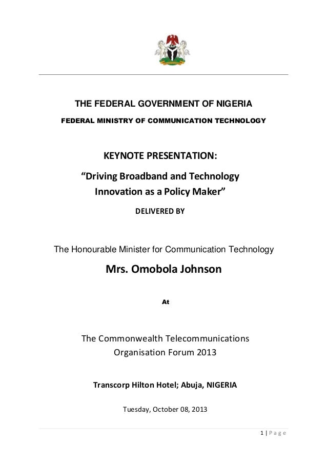Driving broadband and technology innovation as a policy maker
