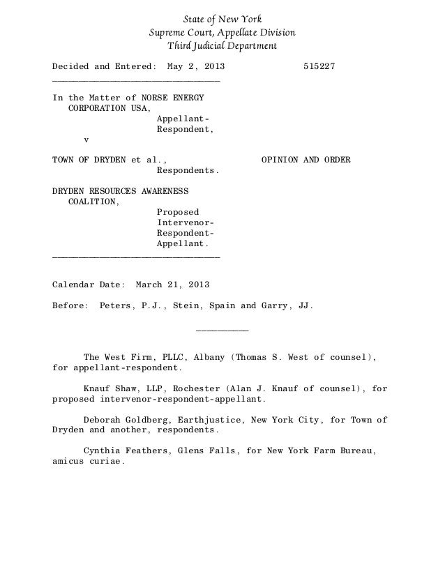 State of New YorkSupreme Court, Appellate DivisionThird Judicial DepartmentDecided and Entered: May 2, 2013 515227________...