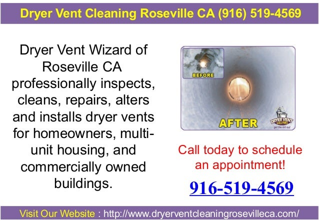 Dryer Vent Cleaning Roseville CA (916) 519-4569  Dryer Vent Wizard of Roseville CA professionally inspects, cleans, repair...