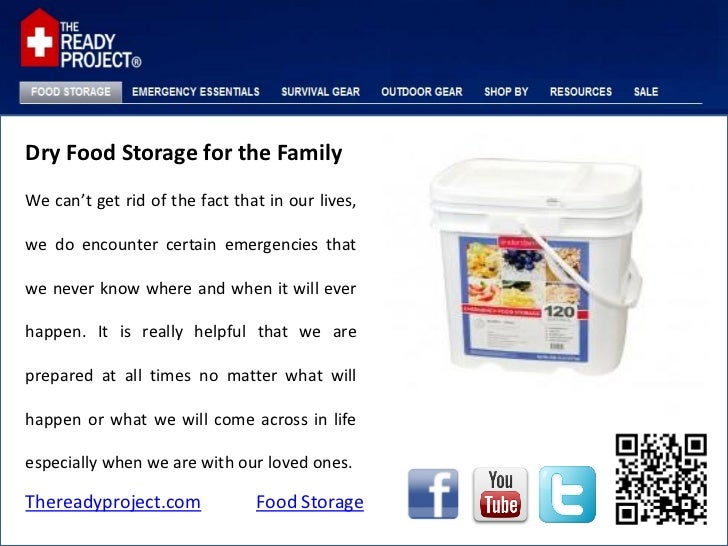Dry food storage for the family