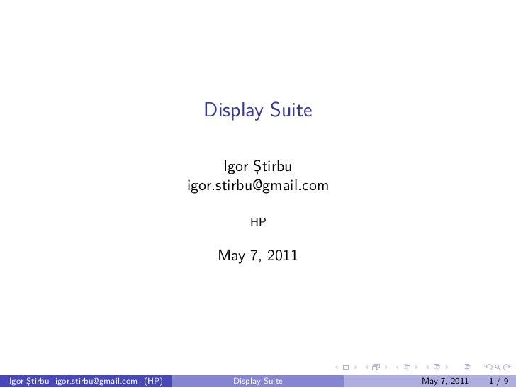 Display Suite