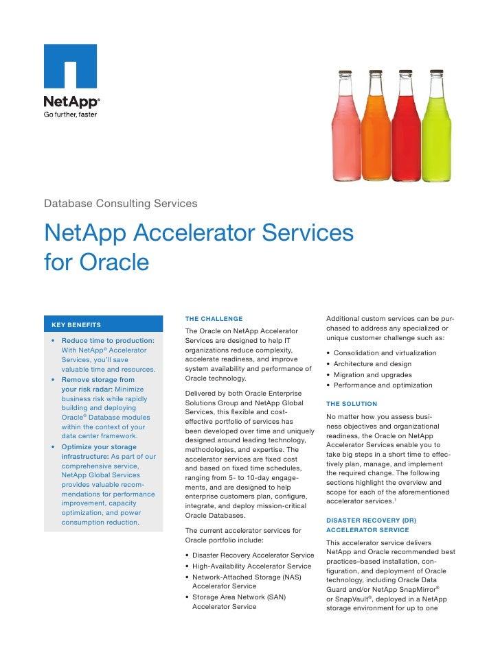 NetApp Datasheet Oracle Accelerator