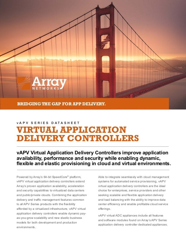 VIRTUAL APPLICATION DELIVERY CONTROLLERS