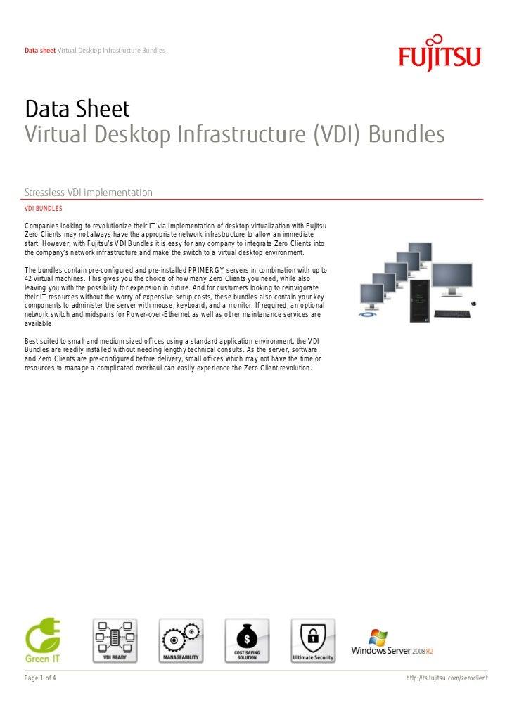 Data sheet Virtual Desktop Infrastructure BundlesData SheetVirtual Desktop Infrastructure (VDI) BundlesStressless VDI impl...