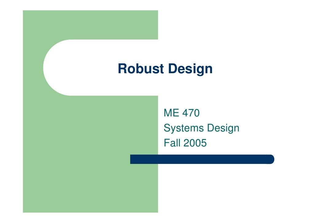 DS-004-Robust Design