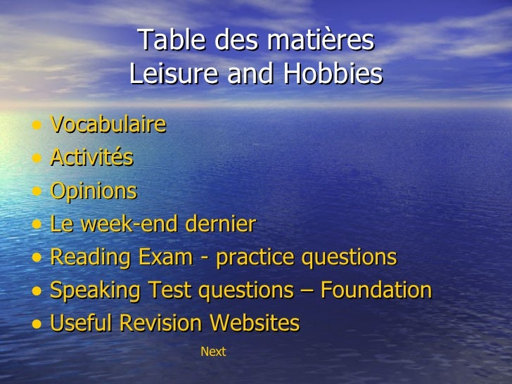 gcse french coursework leisure Vocab exercise and writing frame suitable for writing - higher / foundation tiers could also be used with ks3 learners.