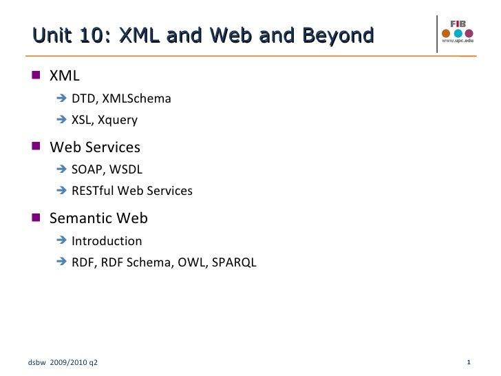 <ul><li>XML </li></ul><ul><ul><li>DTD, XMLSchema </li></ul></ul><ul><ul><li>XSL, Xquery </li></ul></ul><ul><li>Web Service...