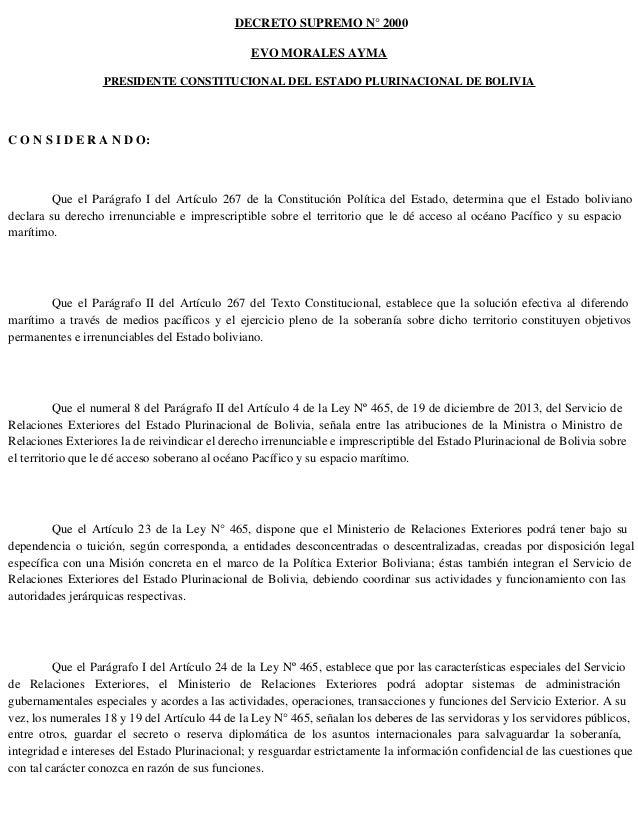 Decreto Supremo 2000