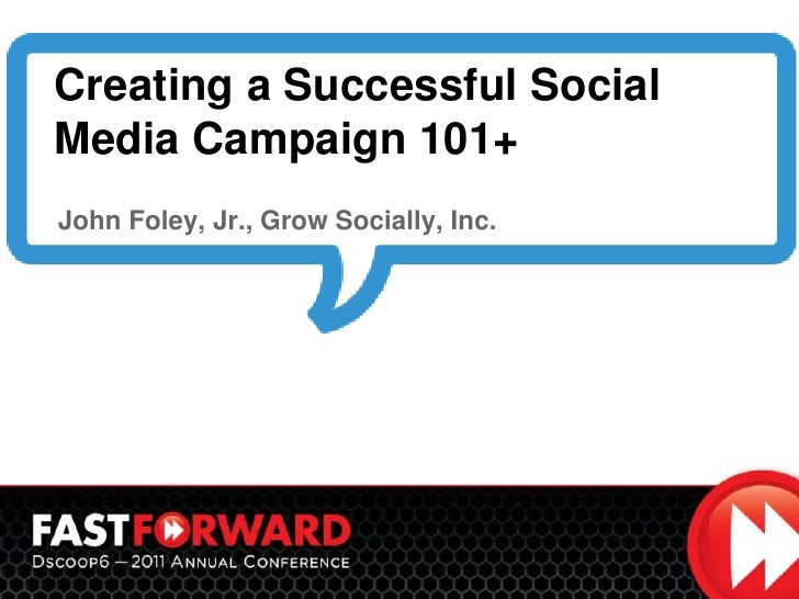 Dscoop creating a successful social media campaign 101+