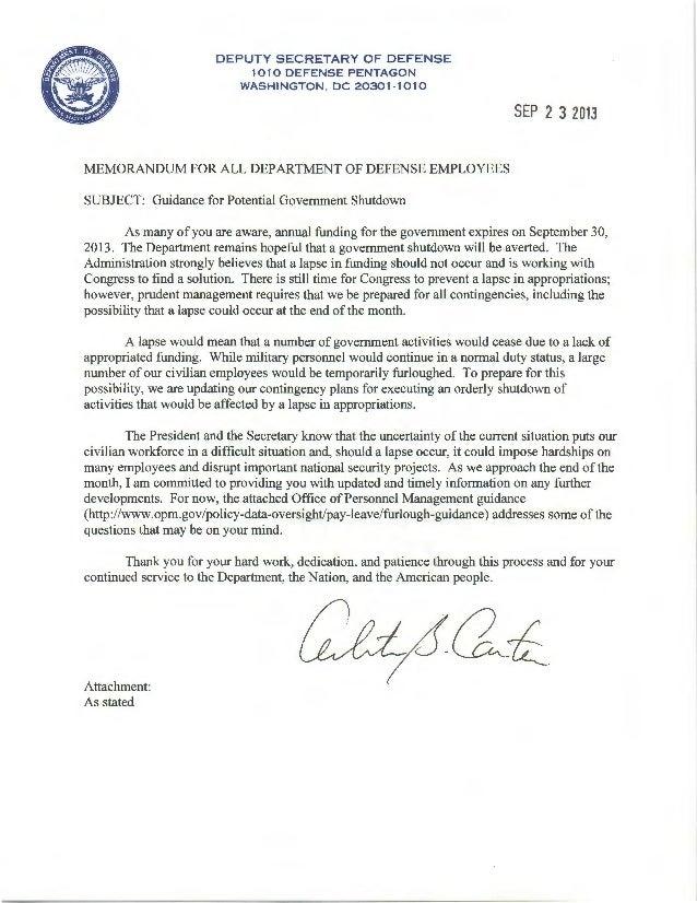 DEPUTY SECRETARY OF DEFENSE 1010 DEFENSE PENTAGON WASHINGTON , DC 20301·1010 MEMORANDUM FOR ALL DEPARTMENT OF DEFENSE EMPL...