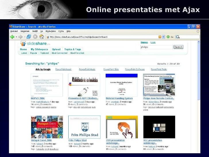 Online presentaties met Ajax