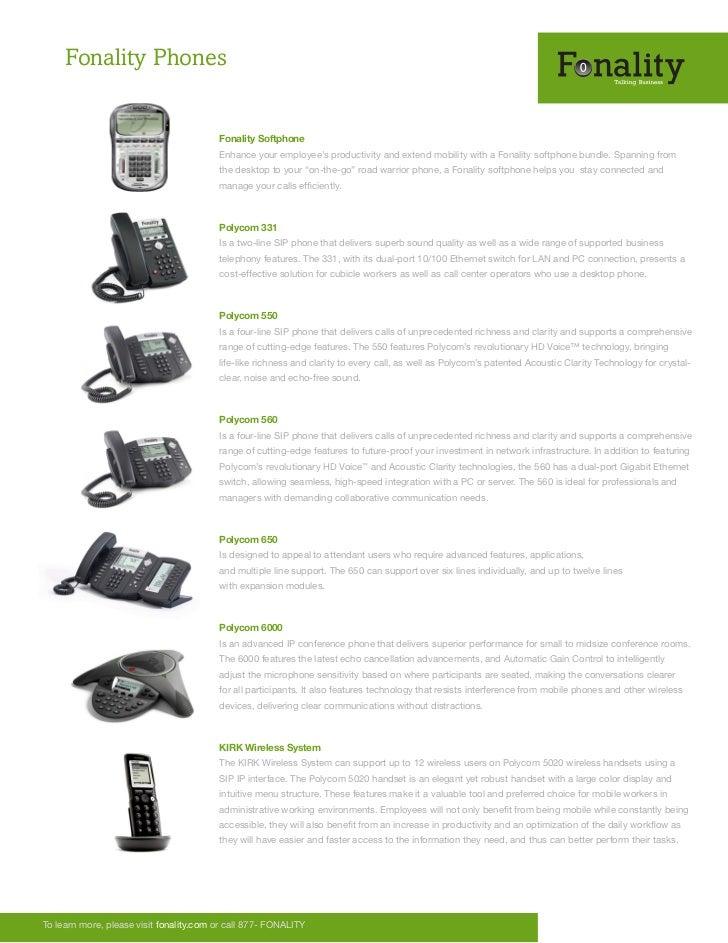 Fonality Phones                                         Fonality Softphone                                         Enhance...