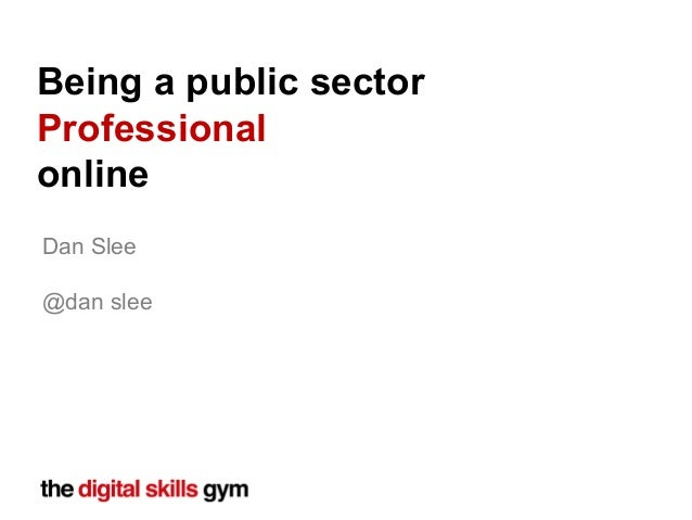 Being A Public Sector Professional Online