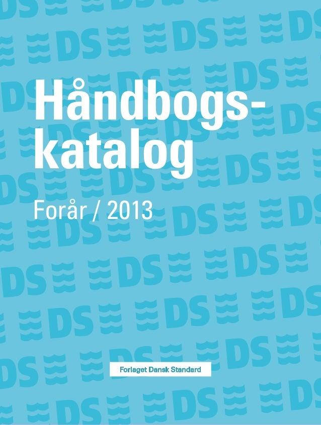 Håndbogs-katalogForår / 2013