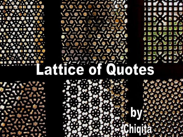 Lattice of Quotes by Chiqita