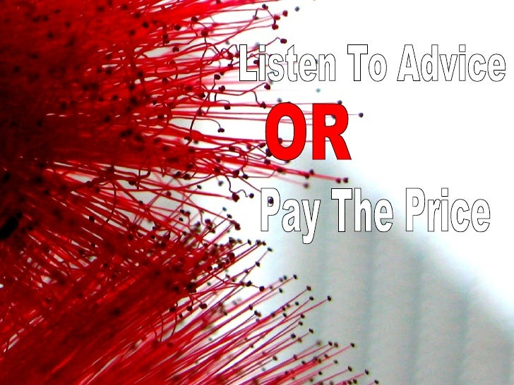 Listen to Advice or Pay the Price
