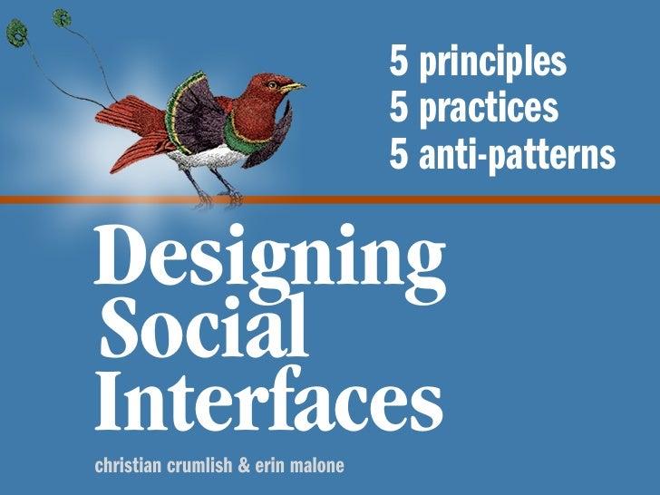 5 principles                                    5 practices                                    5 anti-patterns  Designing ...