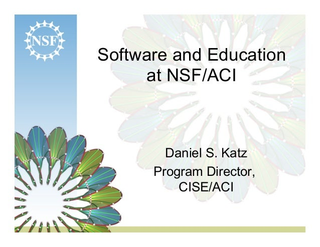 Software and Education at NSF/ACI
