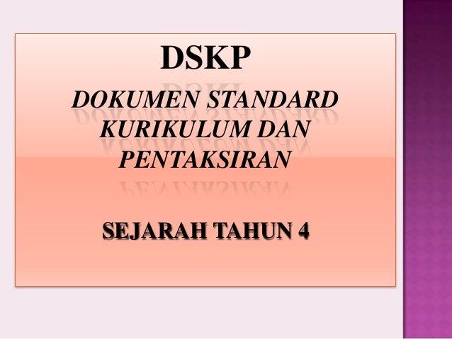 DSKP SEJARAH TAHUN 4 PRESENTATION