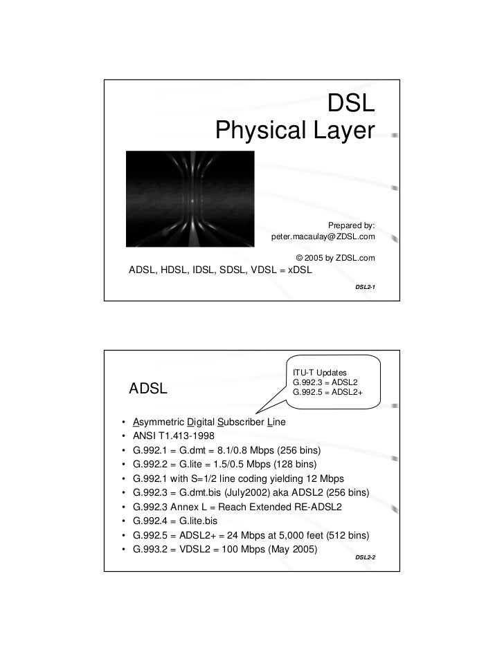 Dsl physical layer