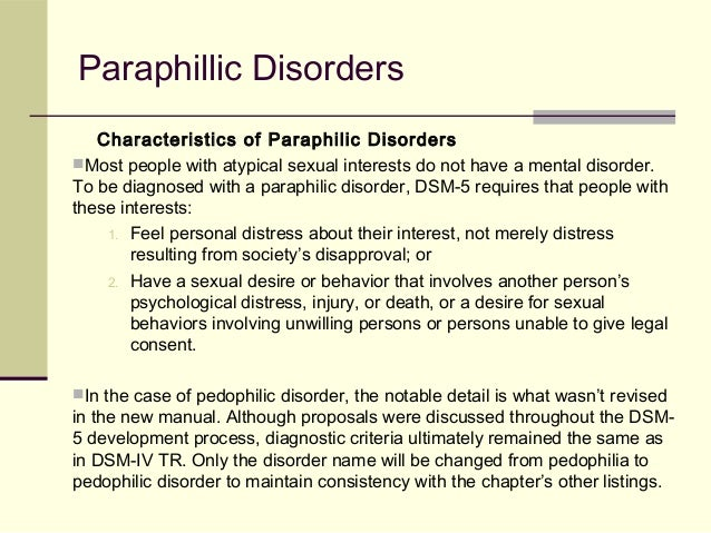 pedophilic disorder essay