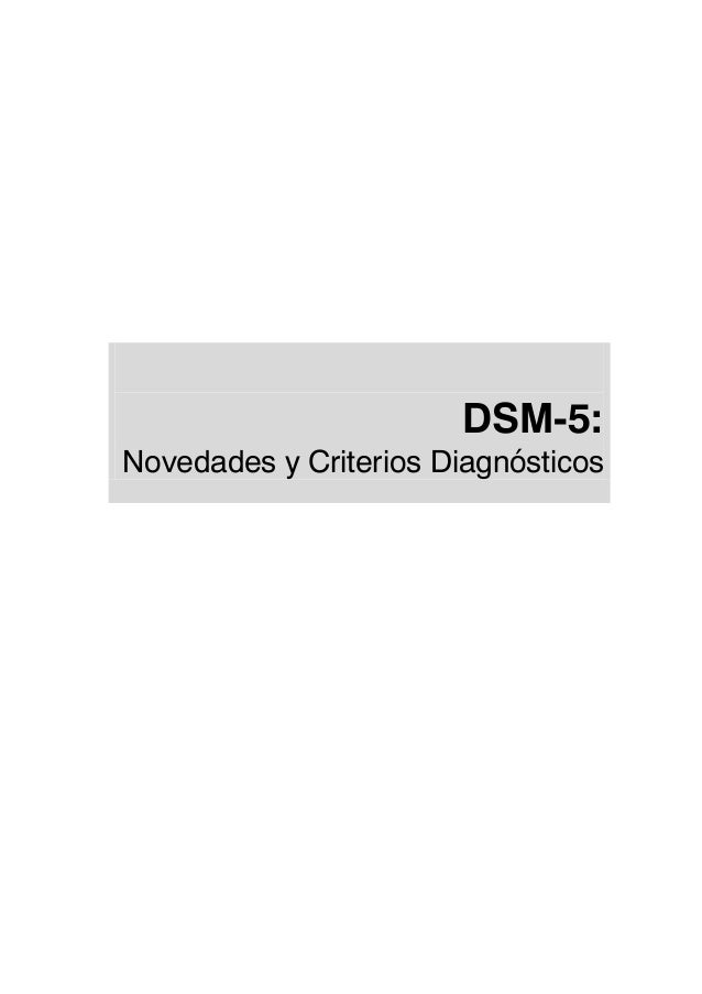 DSM-5: Novedades y Criterios Diagnósticos