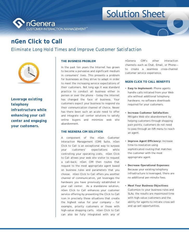 nGen's Click to Call Improves Customer Interaction