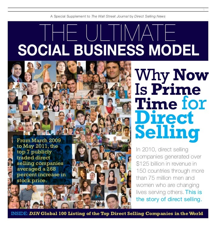 The Wall Street Journal Pullout  ''Why its Prime Time for Direct Selling ""