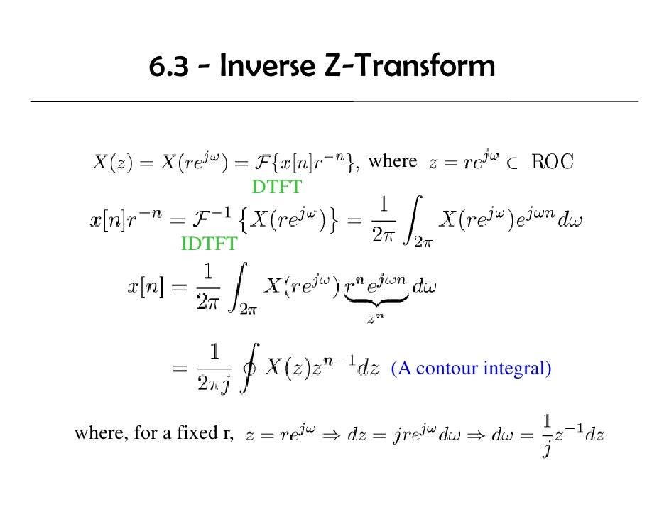 Application Z Transform