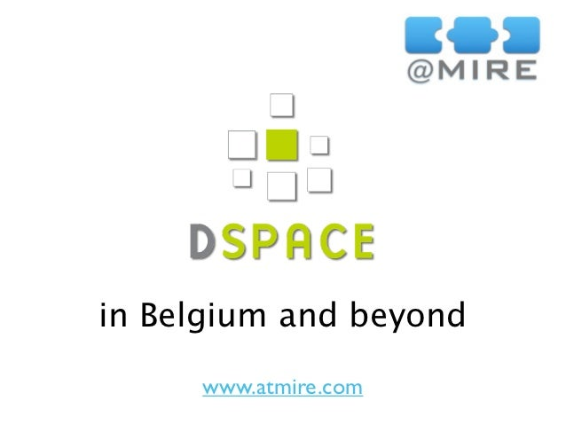 DSpace in Belgium and beyond
