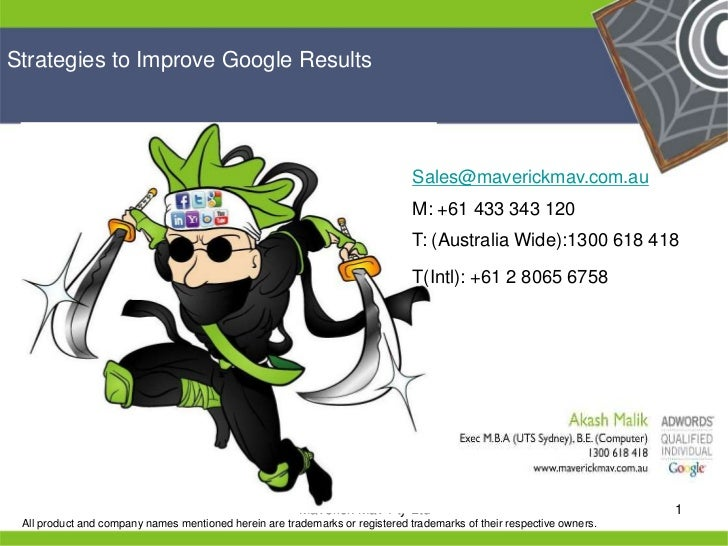 Strategies to Improve Google Results                                                                                  Sale...