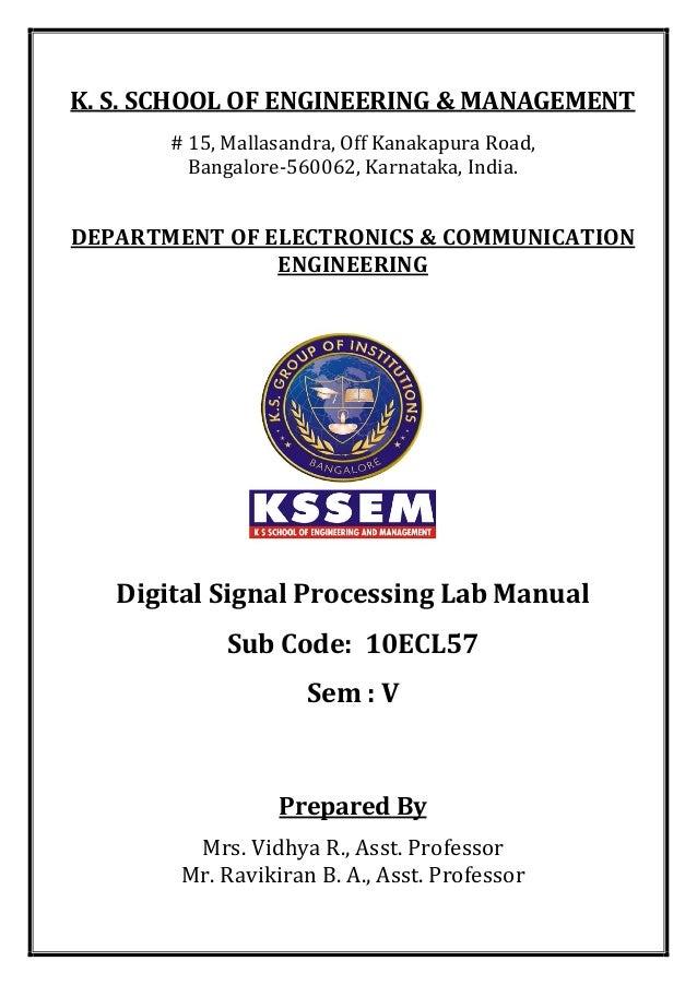K. S. SCHOOL OF ENGINEERING & MANAGEMENT # 15, Mallasandra, Off Kanakapura Road, Bangalore-560062, Karnataka, India. DEPAR...