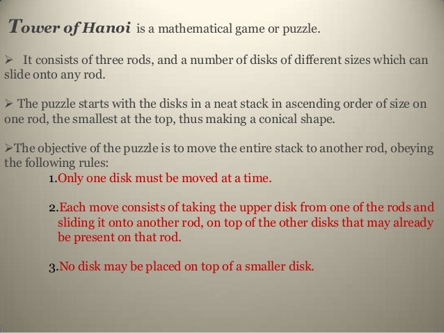 What is a Similar Mathematical Problem to the Tower of Hanoi Puzzle?