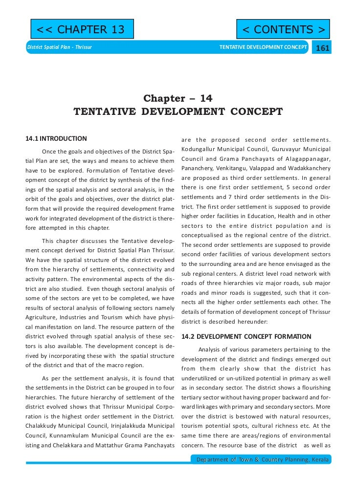 << CHAPTER 13                                                                  < CONTENTS >District Spatial Plan - Thrissu...