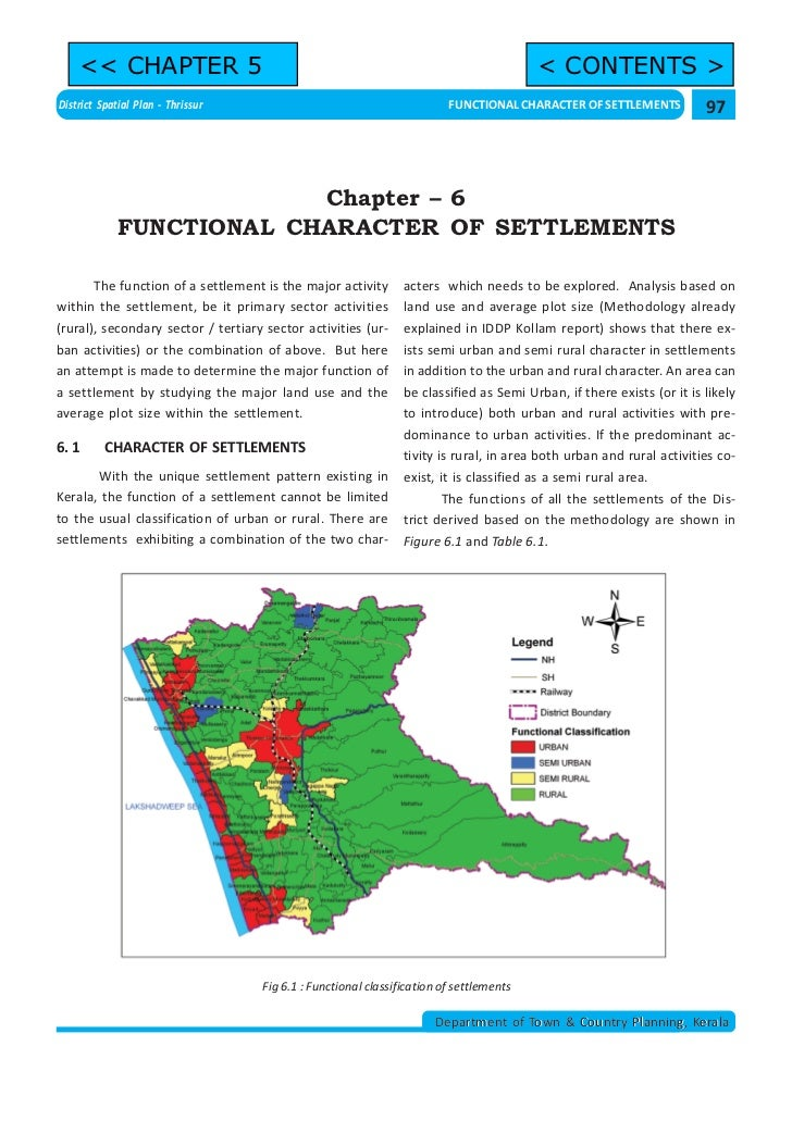 << CHAPTER 5                                                                         < CONTENTS >District Spatial Plan - T...