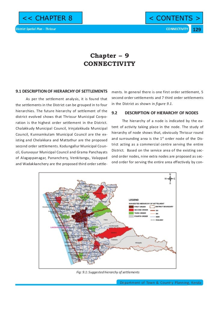 << CHAPTER 8                                                                    < CONTENTS >District Spatial Plan - Thriss...