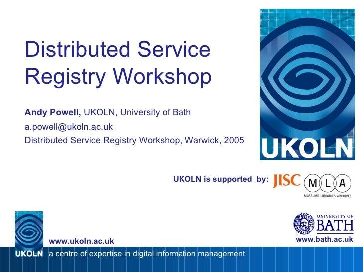 Distributed Service Registry Workshop